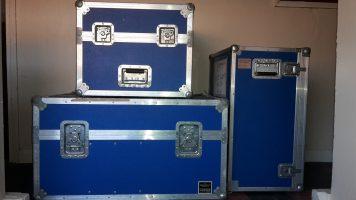 Three Professional Flight Cases